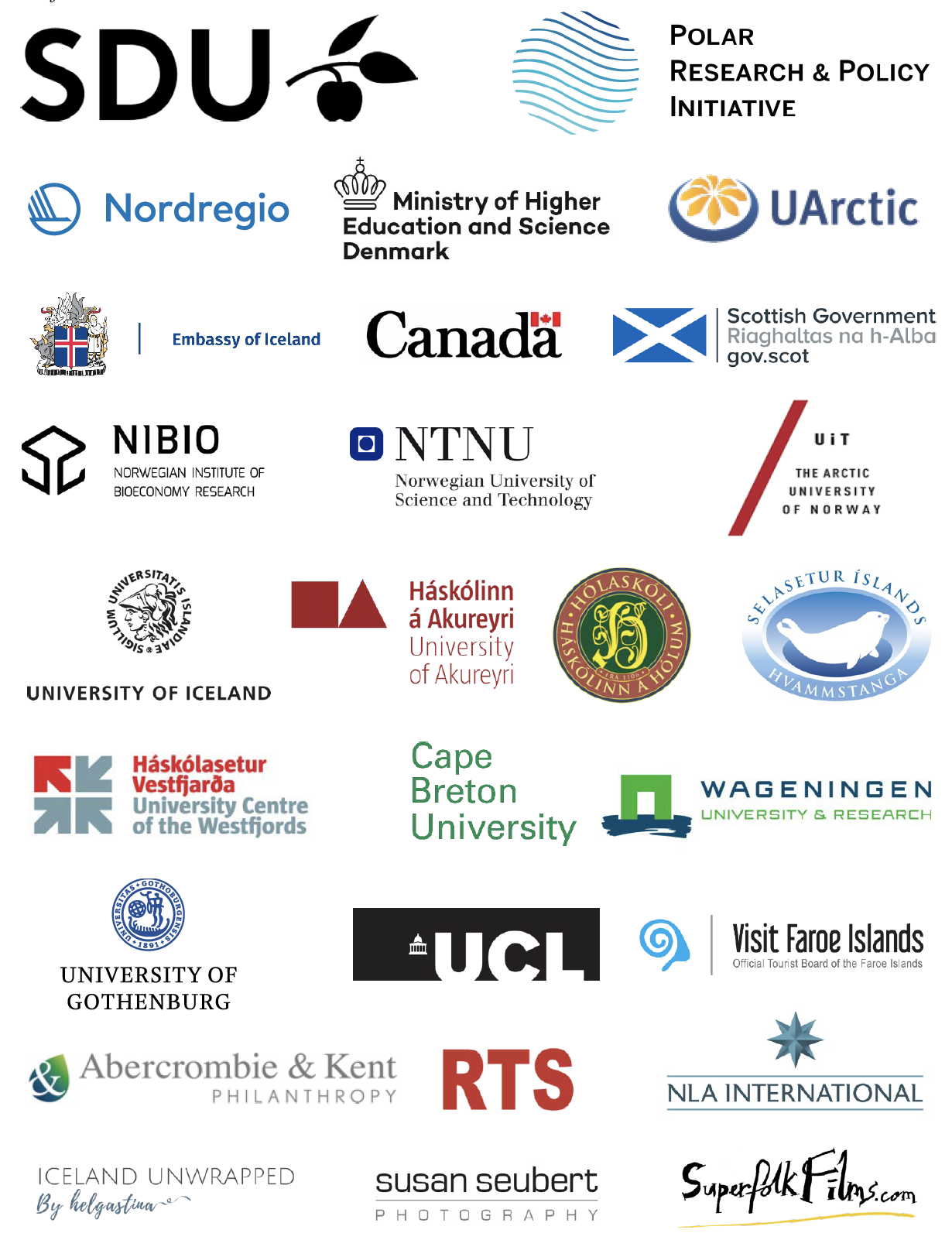 Sustainable Arctic Tourism Project Partners
